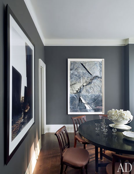 charcoal grey dining room
