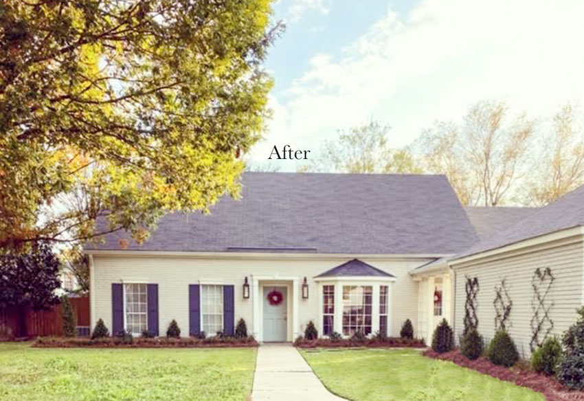 White Painted Brick House After