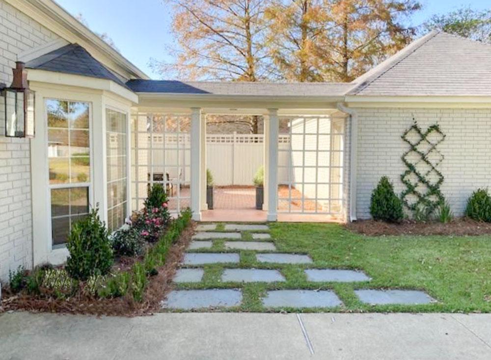 White Painted Brick House Exterior Design