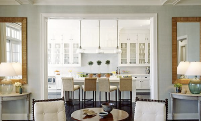 White cabinets light grey wall