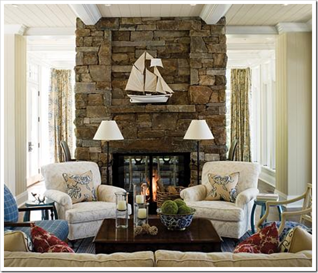 How to choose colour around a stone fireplace for Choosing a fireplace
